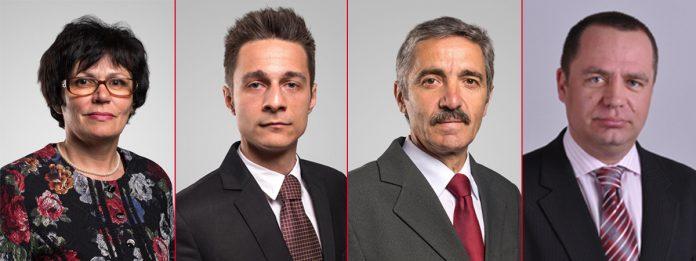 Furó Judita, Bakó Szabolcs, Boros Gyula și Biró Csaba Szilveszter