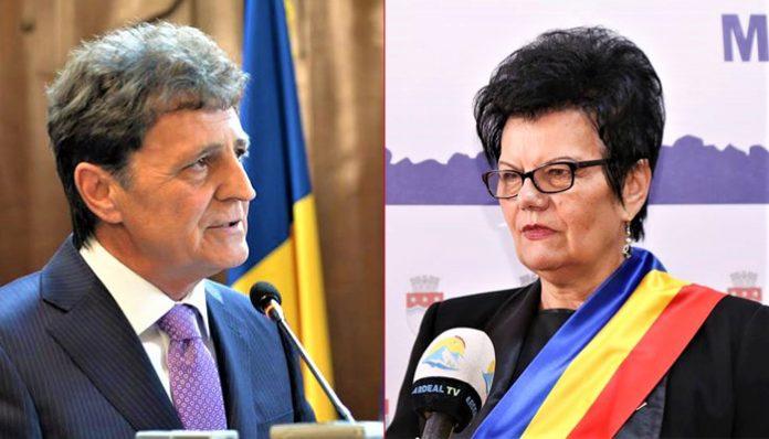 Mircea Dușa și Maria Precup